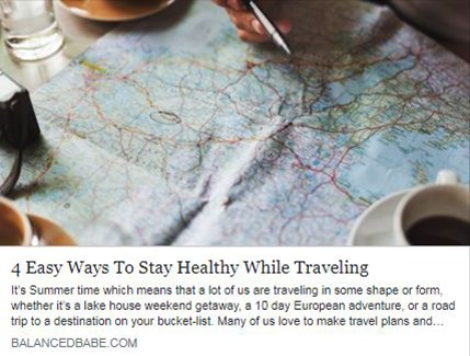 4 Easy ways to stay healthy whilst travelling