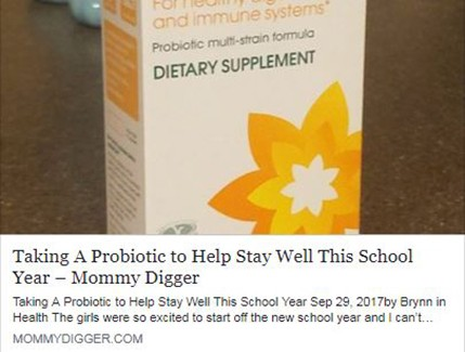 Taking A Probiotic to Help Stay Well This School Year
